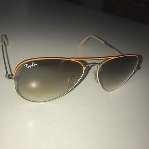 Ray Ban Large Metal Aviator Sunglasses